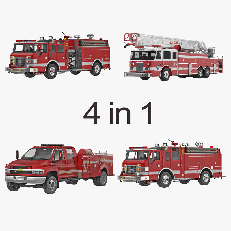 Fire Trucks Collection 3d models 000.jpg
