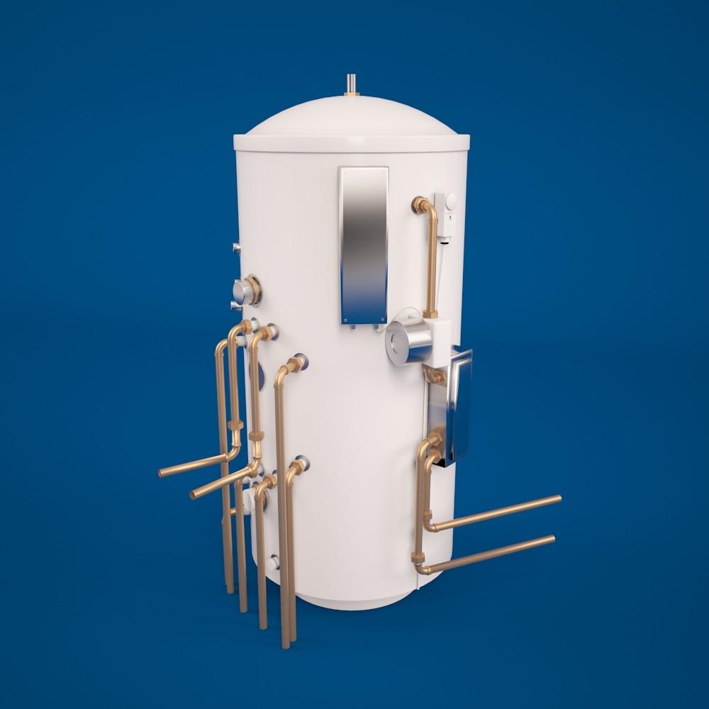 Water Boiler Model ~ D model of water boiler