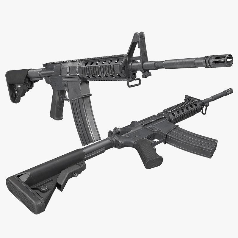 military m4 assault rifle 3d model assault rifle m4