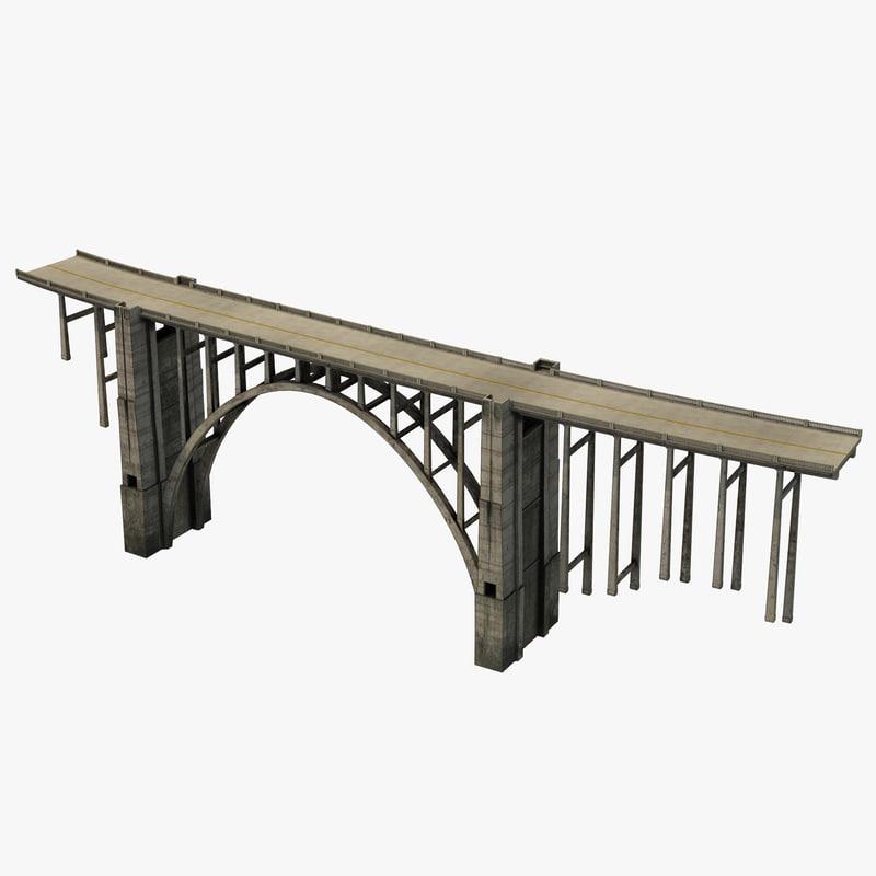 Bixby Creek Bridge in Big Sur 3d model 00.jpg