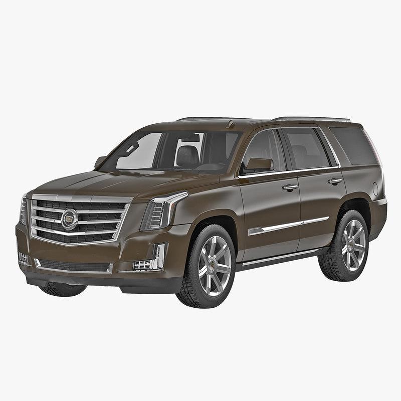 Cadillac Escalade 2015 Simple Interior 3d model 00.jpg