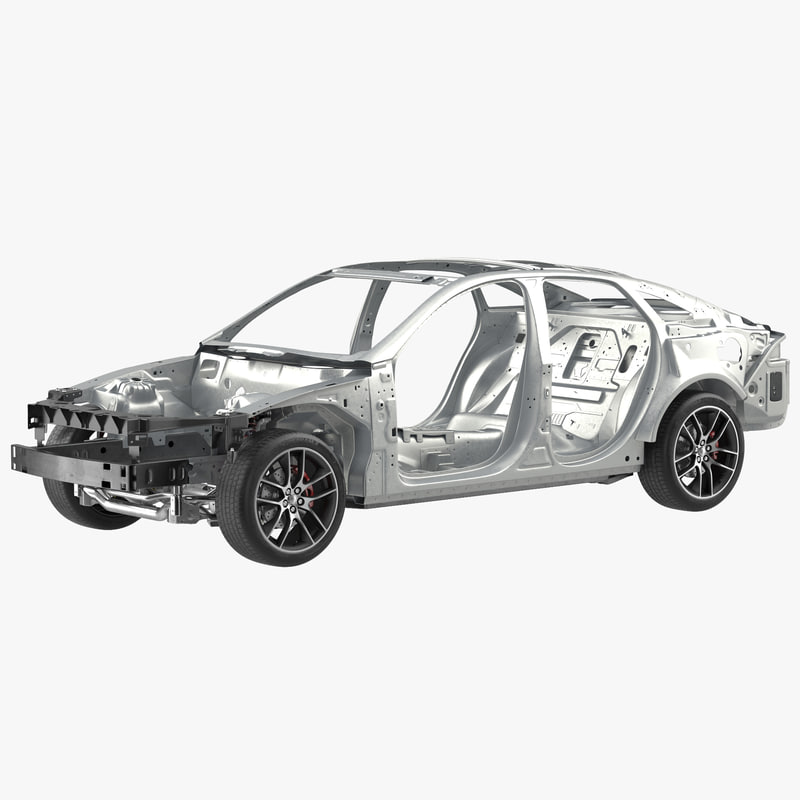 Car Frame with Chassis 3d model 00.jpg
