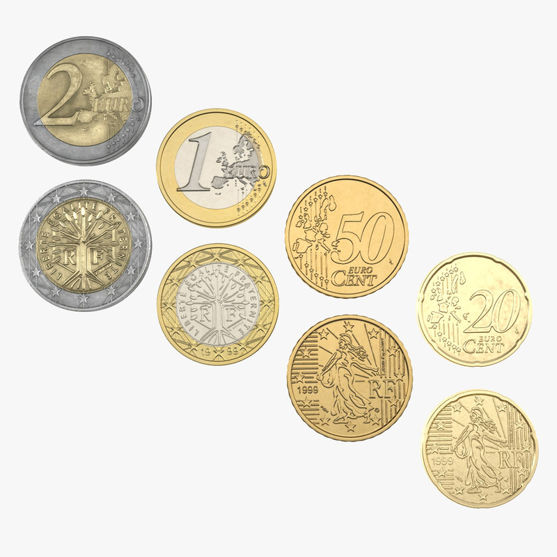 French Euro Coins Collection 3d models 00.jpg