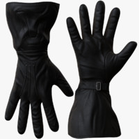 leather gloves 3D models