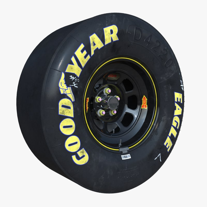 Goodyear Racing Tires >> nascar wheel brake disc 3d model