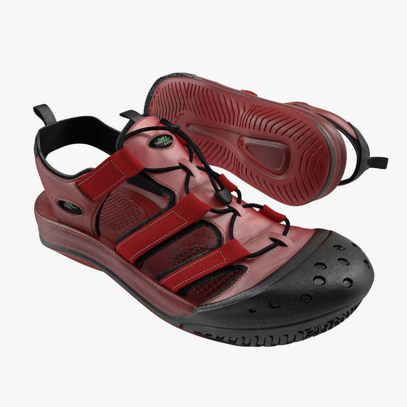 Sneakers Red 3d model 00.jpg
