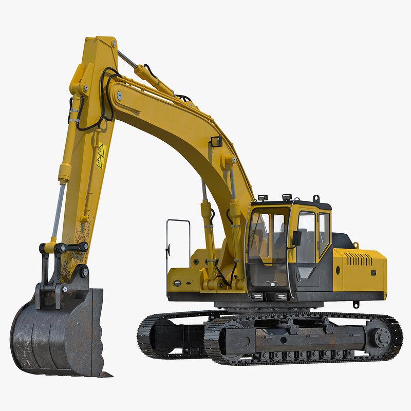 Tracked Excavator Rigged 3d model 00.jpg