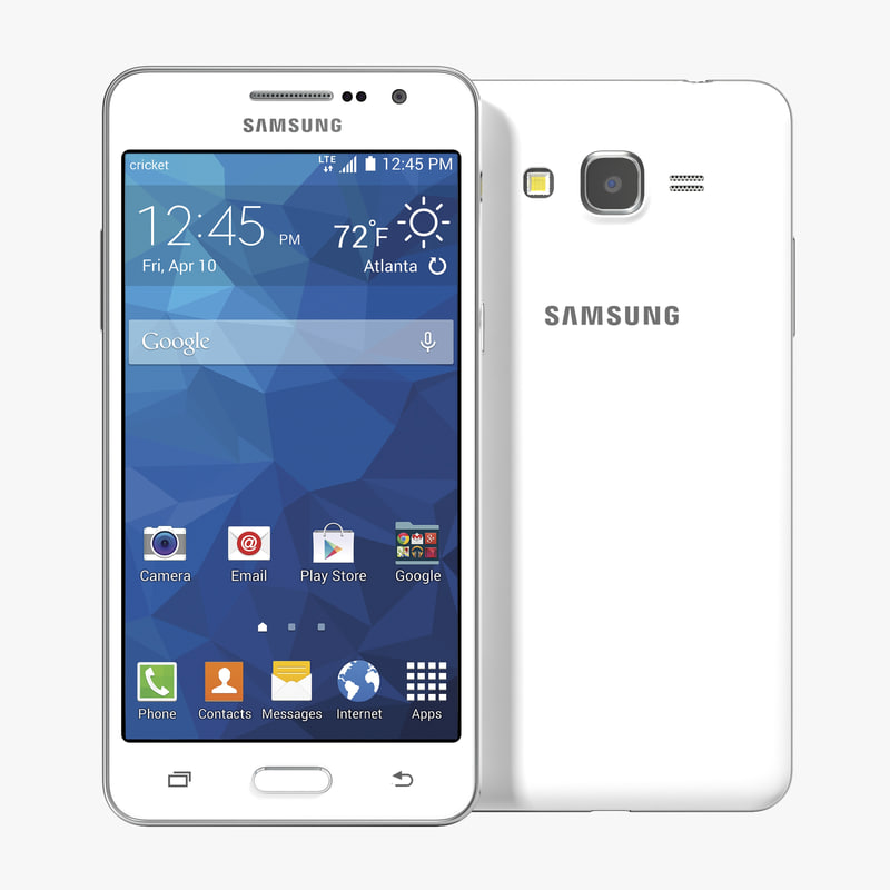 Samsung Galaxy Grand Prime White 3d model 00.jpg