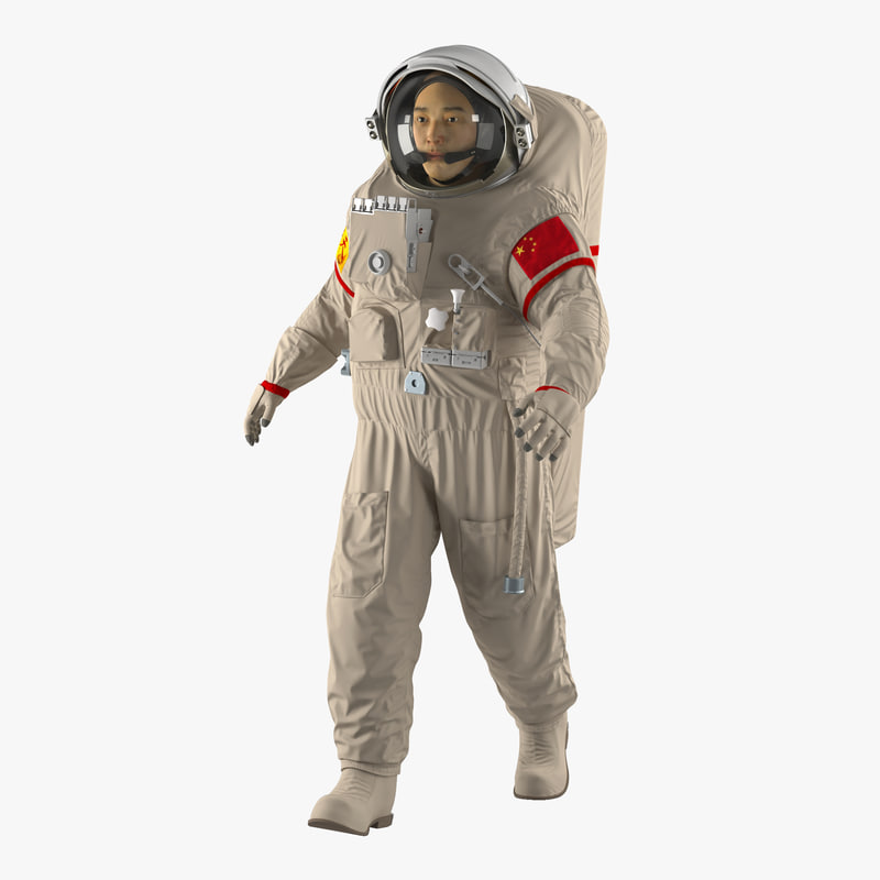 Chinese Astronaut Wearing Space Suit Feitian Rigged 3d model 00.jpg