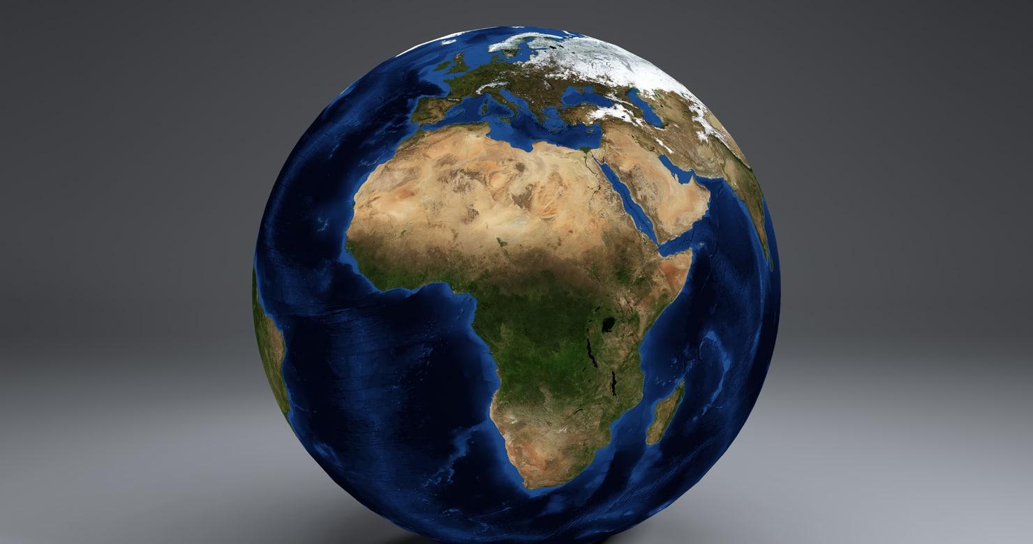 3d 21k earth globe model