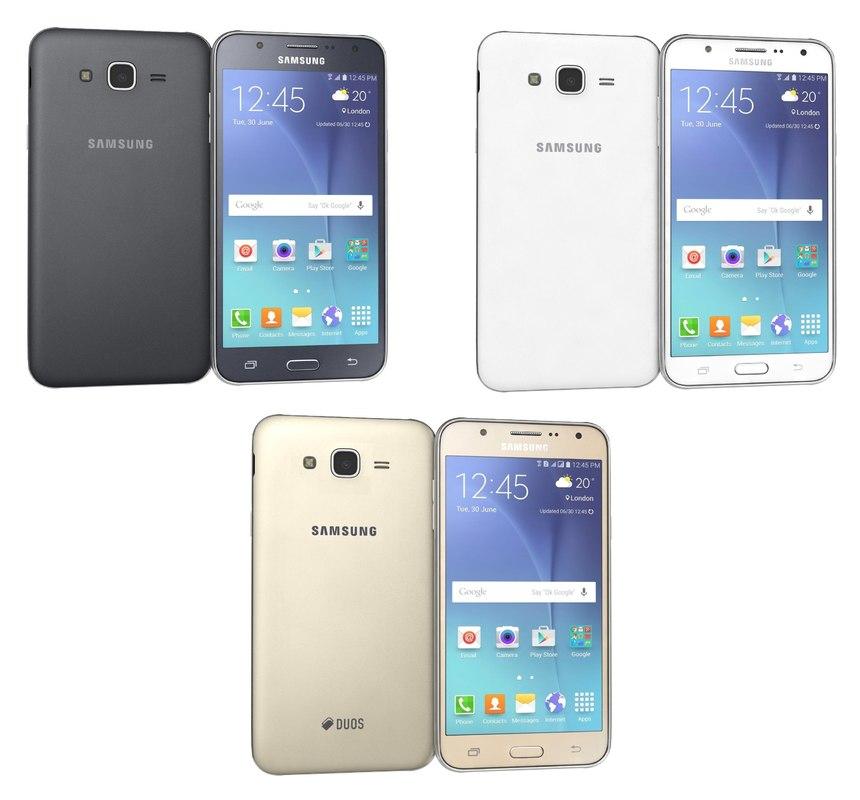samsung galaxy j7 colors 3d model
