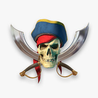 pirate flag 3D models