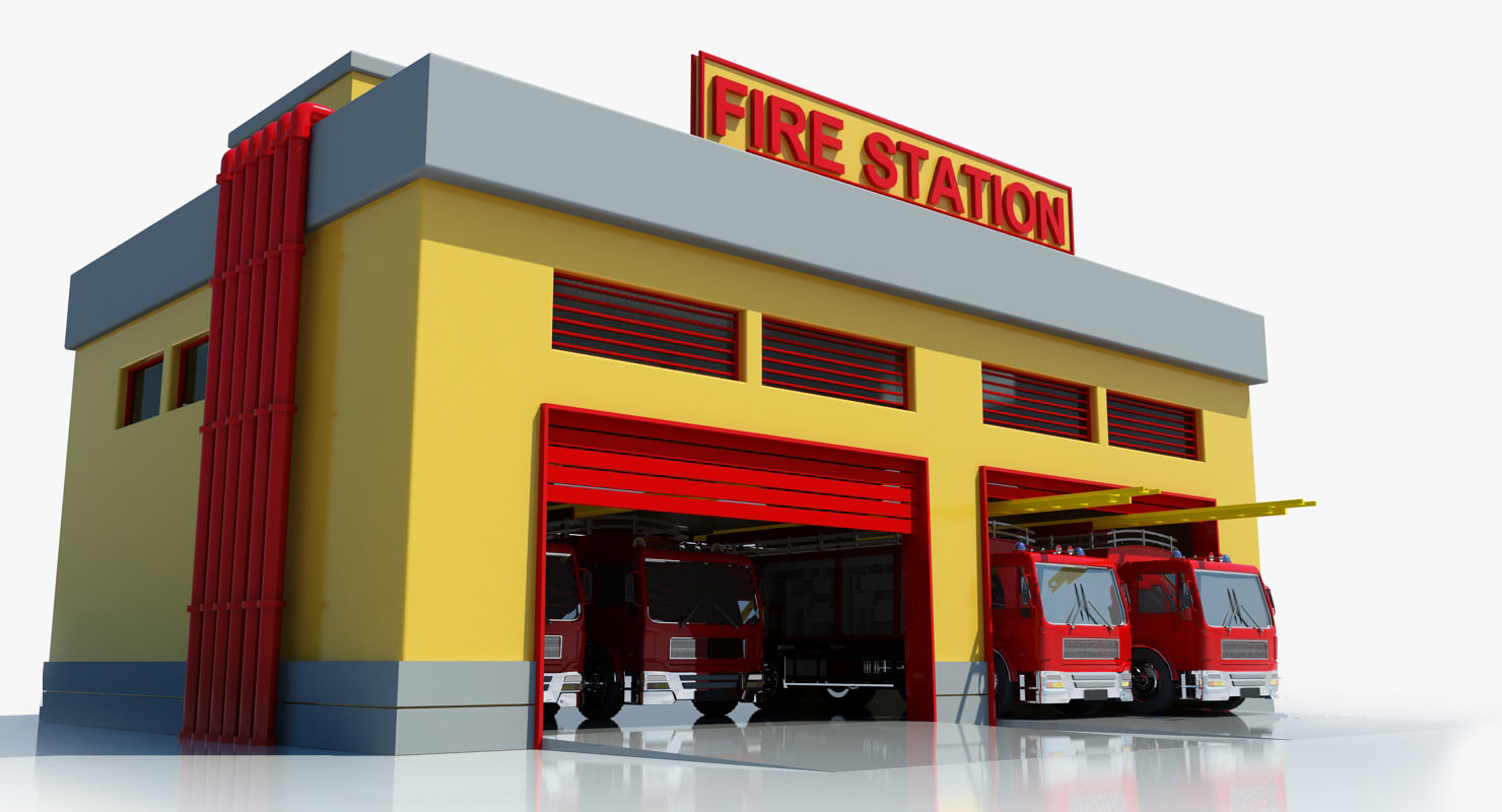 clip art of fire station - photo #29