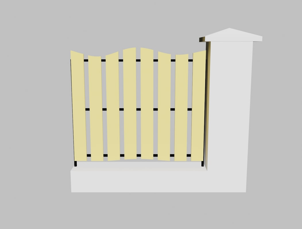 Obj concrete fence - Concrete fence models design ...