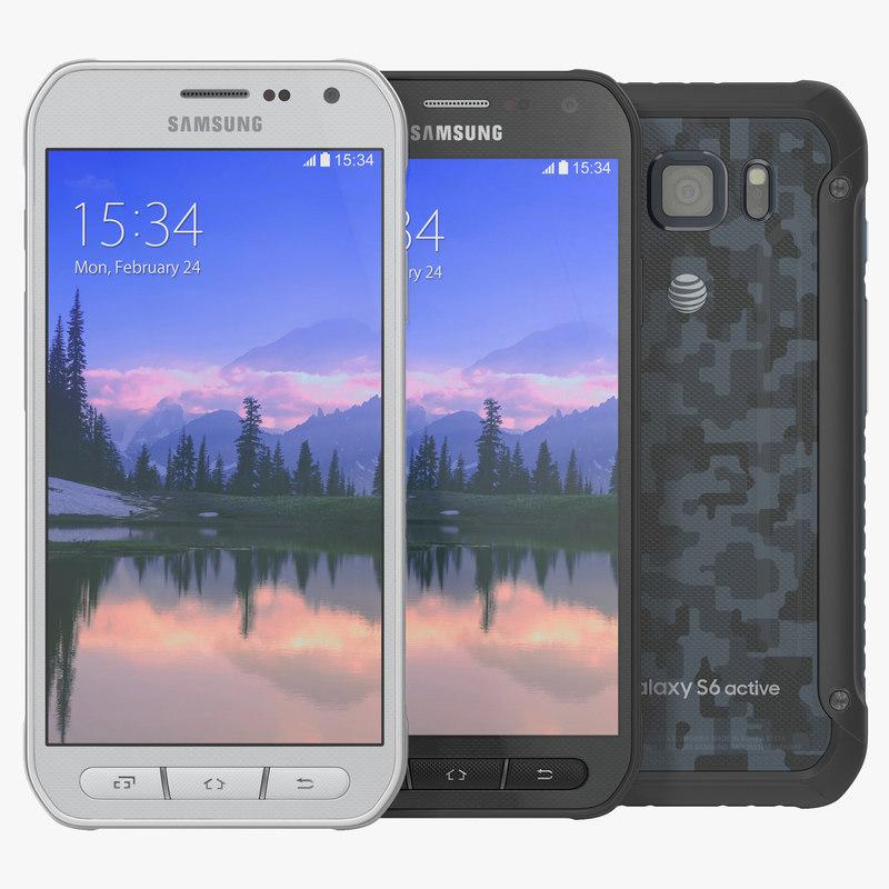 Samsung Galaxy S6 Active Set 3d models 00.jpg