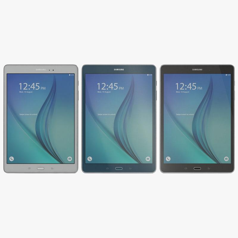 Samsung Galaxy Tab A 9 7 Set 3d models 00.jpg