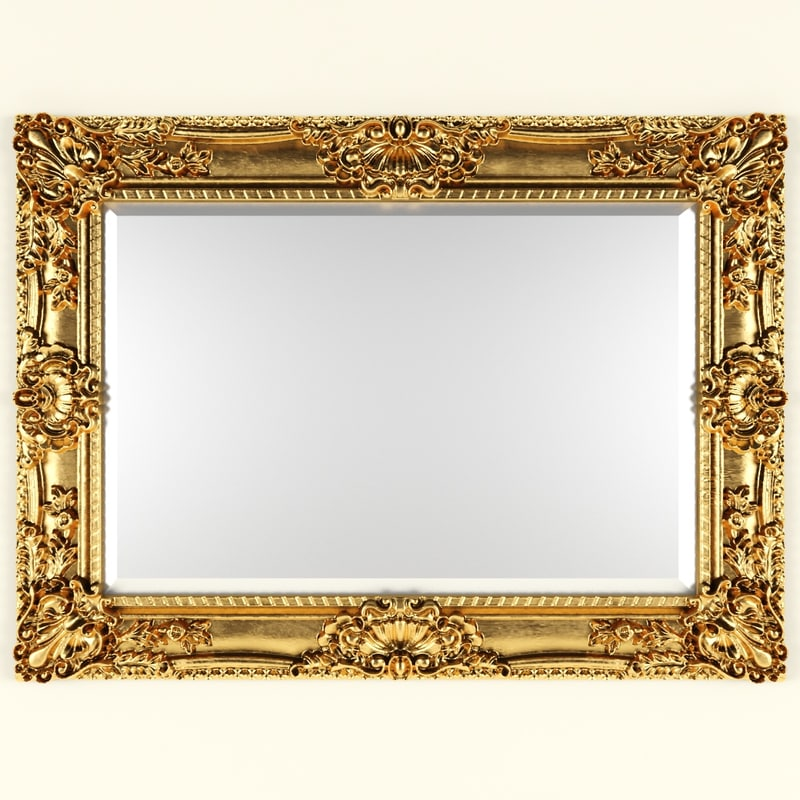 Classic style mirror 3d model for Mirror 3d model