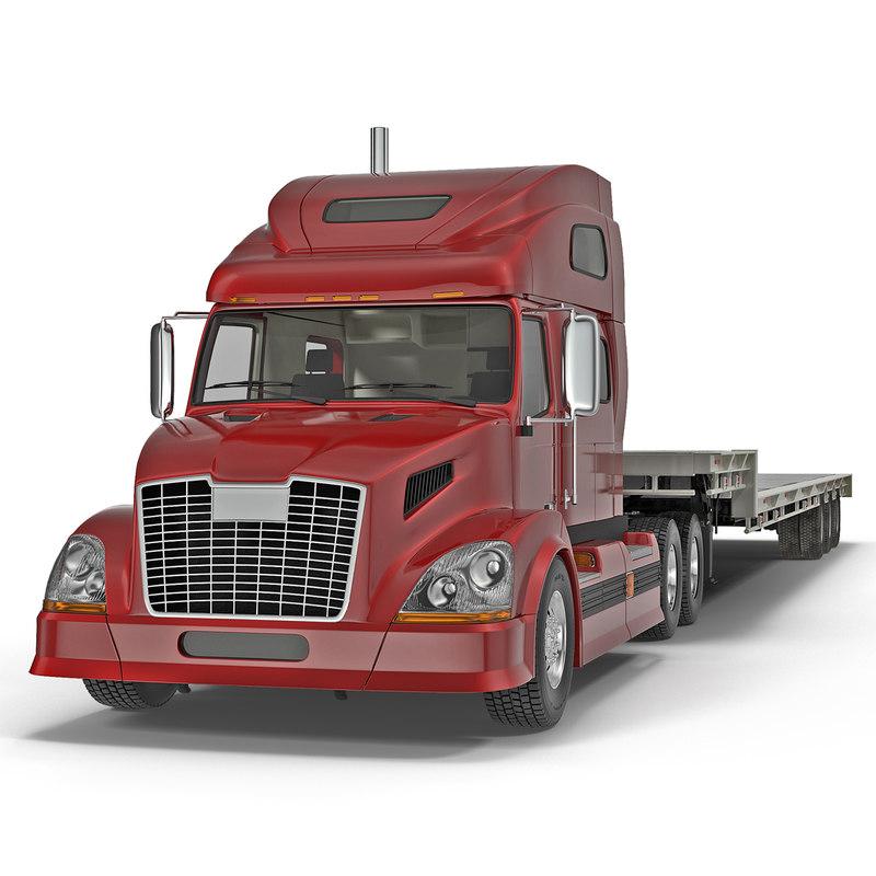 Truck and Single Drop Tri Axle Trailer 001.jpg