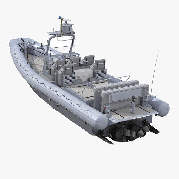 Naval Special Warfare Rigid Hull Inflatable Boat RHIB 3D Models