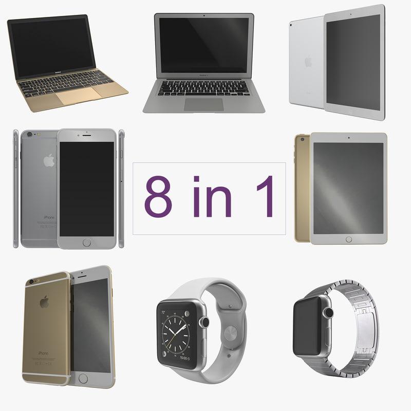 Apple Electronics Collection 3d models 00.jpg
