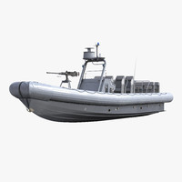 inflatable boat 3D models