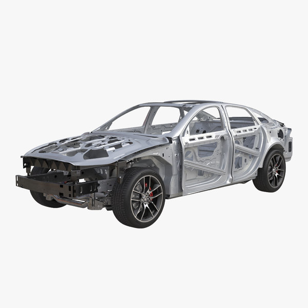 Car Frame with Chassis 3 3D Models