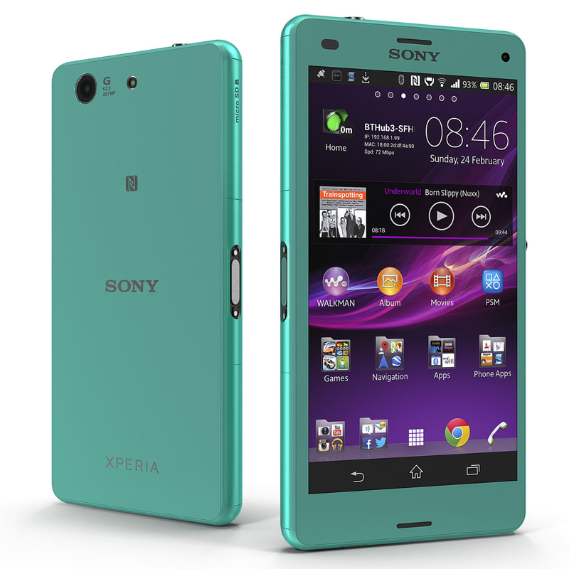 Sony Xperia Z3 Compact Turquoise 3d model 01.jpg
