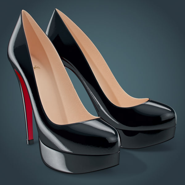 Shoes Louboutin Bianca 3D Models