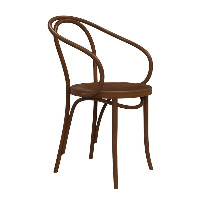 3ds max le corbusier wooden chair