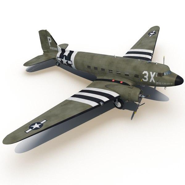 Douglas DC-3 3D Models
