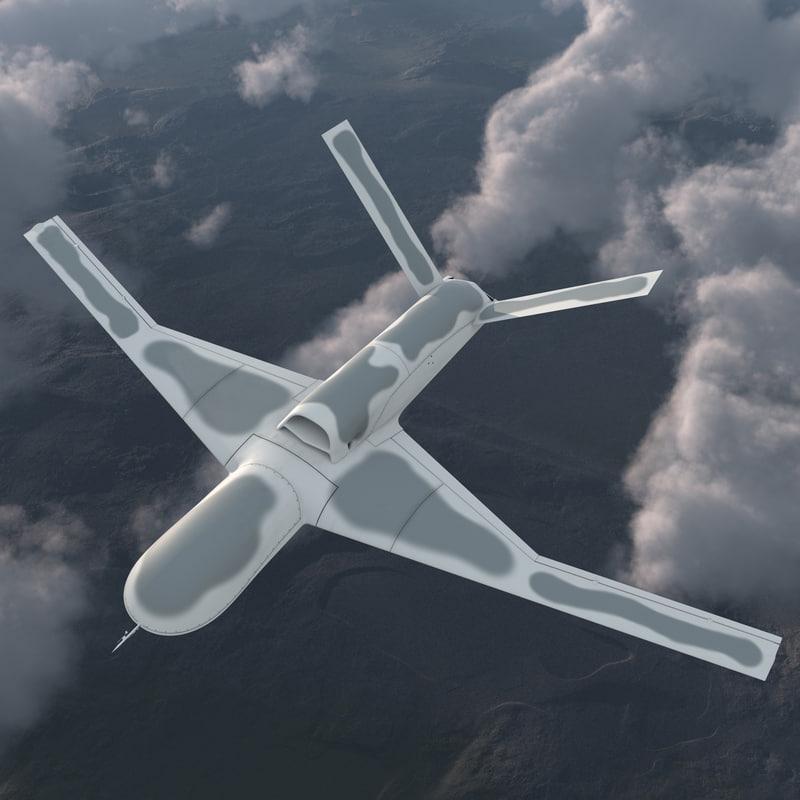 General Atomics Avenger UAV Rigged 3d model 01.jpg