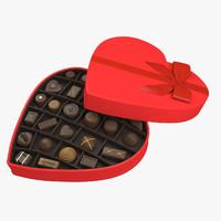 box of chocolates 3D models