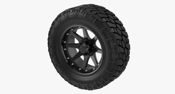 Truck Tire 3D Models