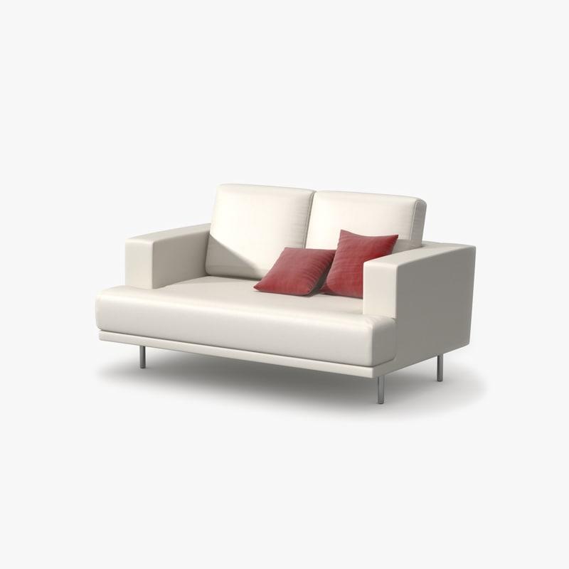 double sofa leather 3ds. Black Bedroom Furniture Sets. Home Design Ideas