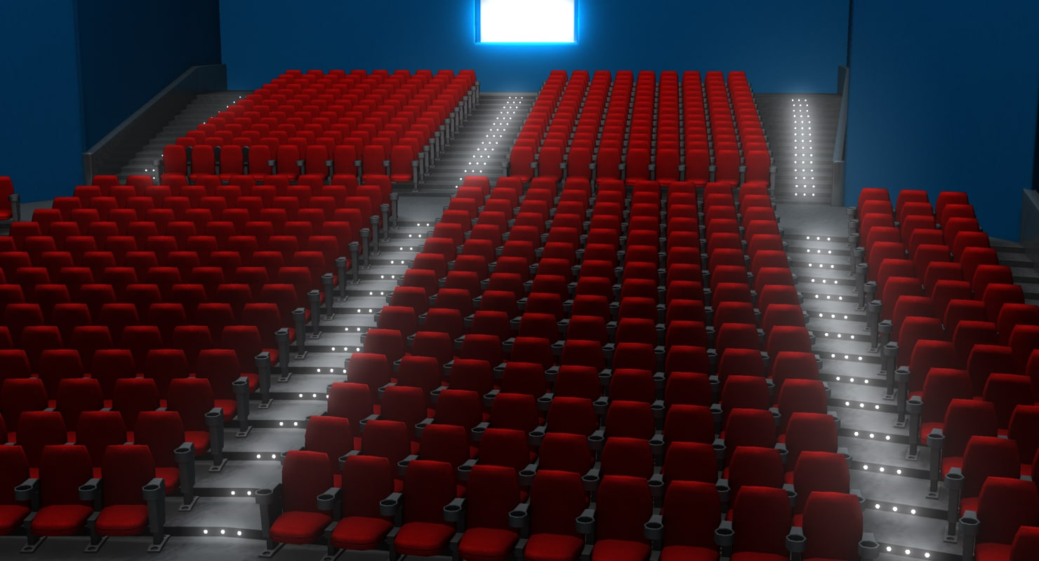 3d movie theater model for Theatre model