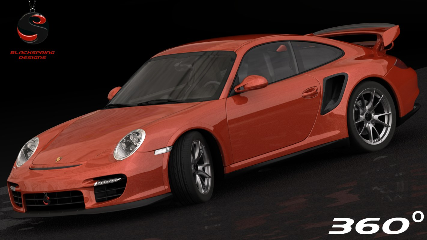3d model porsche 911 gt2 2012. Black Bedroom Furniture Sets. Home Design Ideas