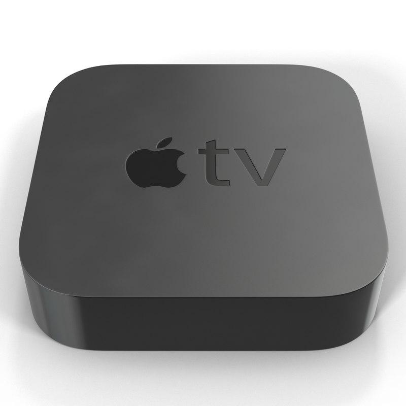 New Apple TV 2015 3d model 01.jpg