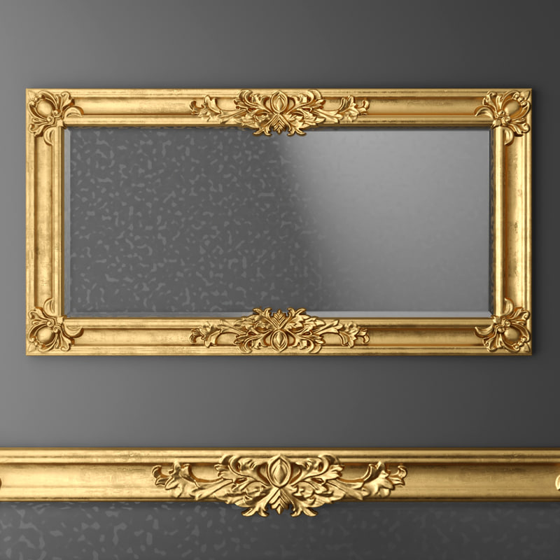 Searched 3d models for jnl classic mirror baroque carved