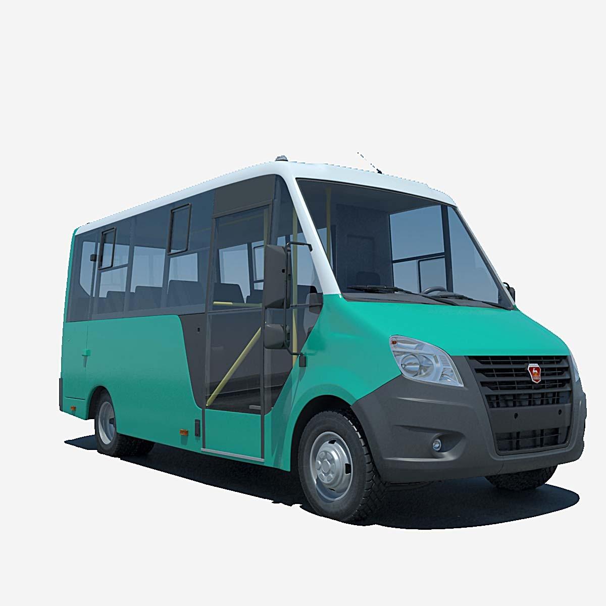 Turbo Microbus: 3d Model Russian Gazelle Bus