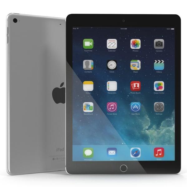 iPad Pro Silver 3D Models