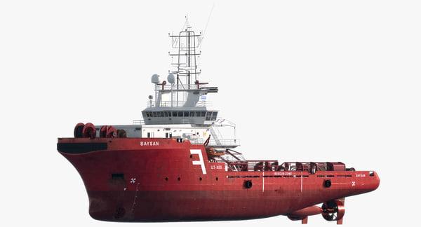 Anchor Handling Tug Supply Vessel AHTS 3D Models