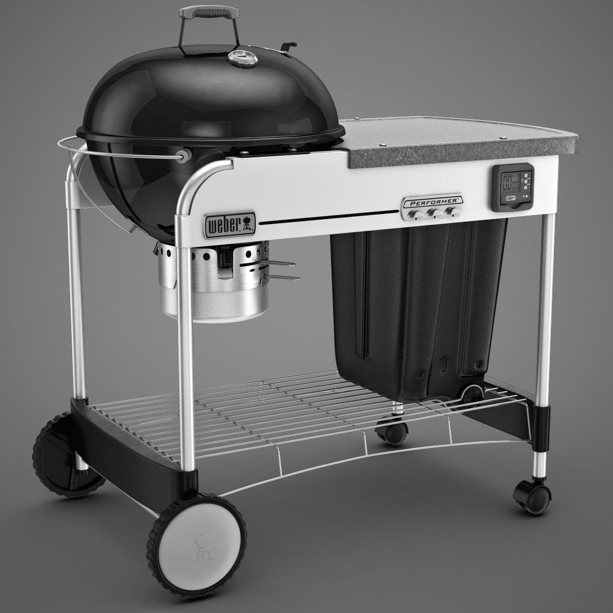 weber grill charcoal gbs 3d model. Black Bedroom Furniture Sets. Home Design Ideas