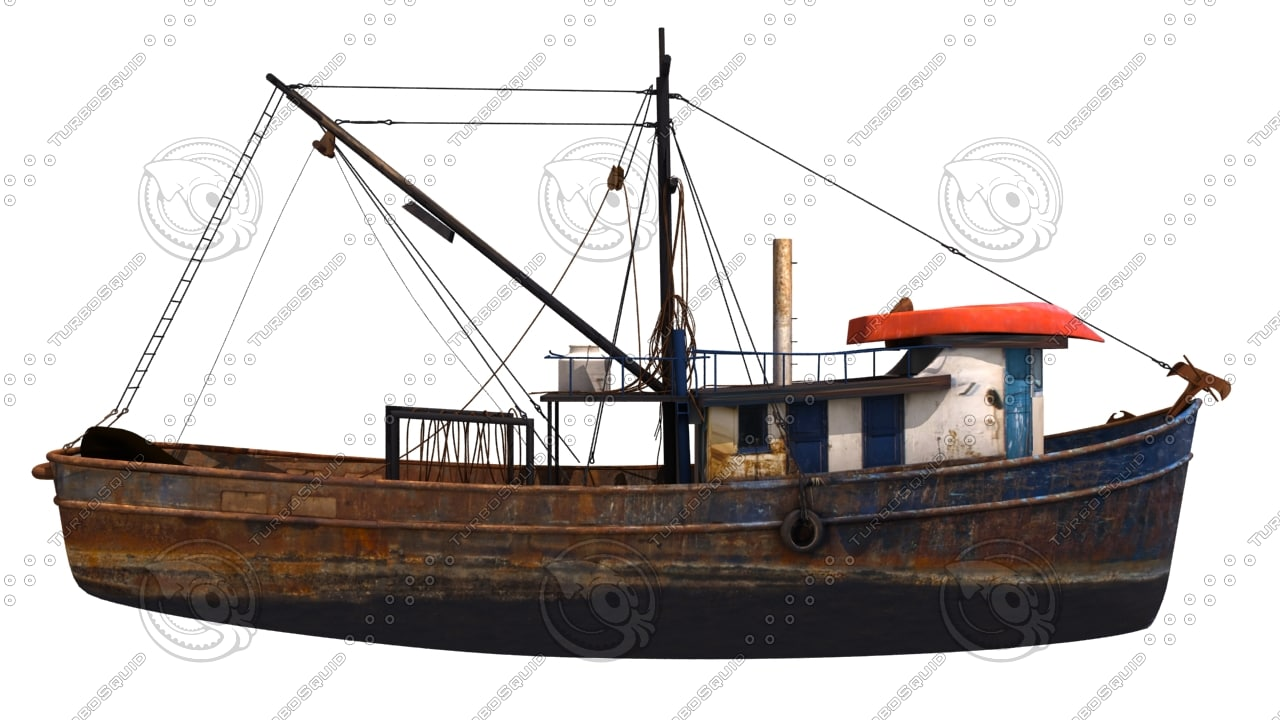 Old fishing boat 3d max for Old fishing boat