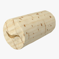Wine Cork 3D models