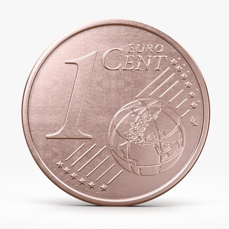3d model euro cent. Black Bedroom Furniture Sets. Home Design Ideas
