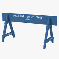 police barricade 3D models