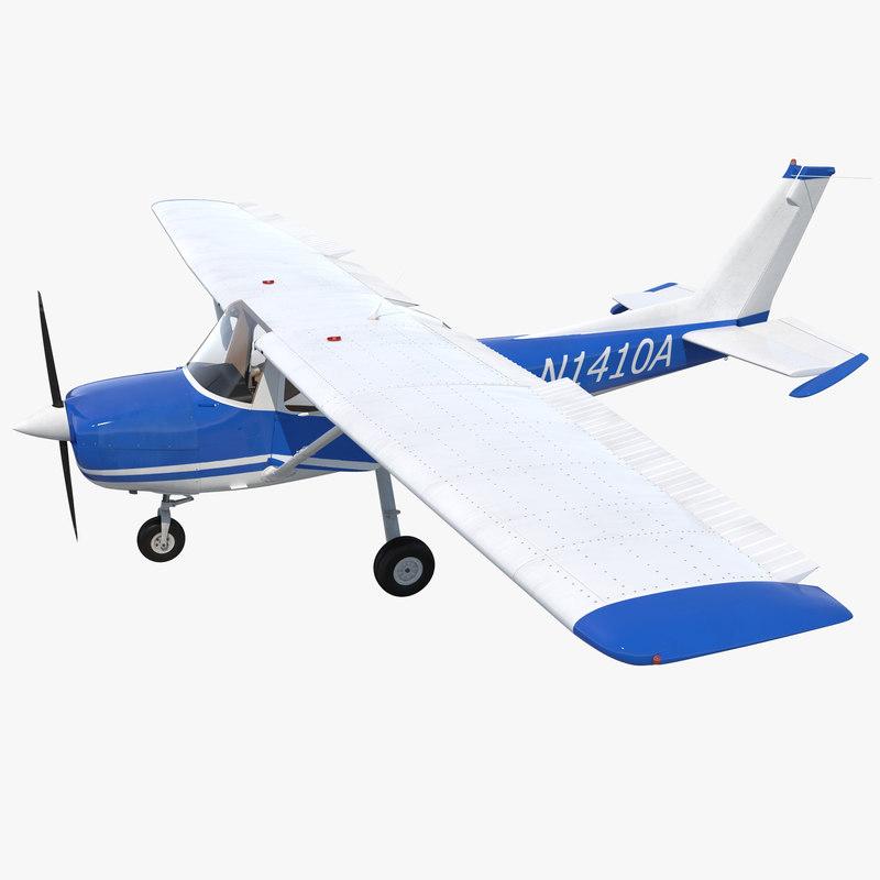 Cessna 150 Rigged 3d model 00.jpg