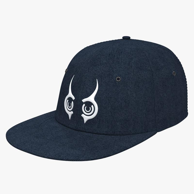 Baseball Hat 3ds model 00.jpg