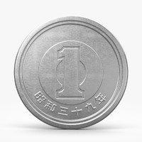 japanese coins 3D models
