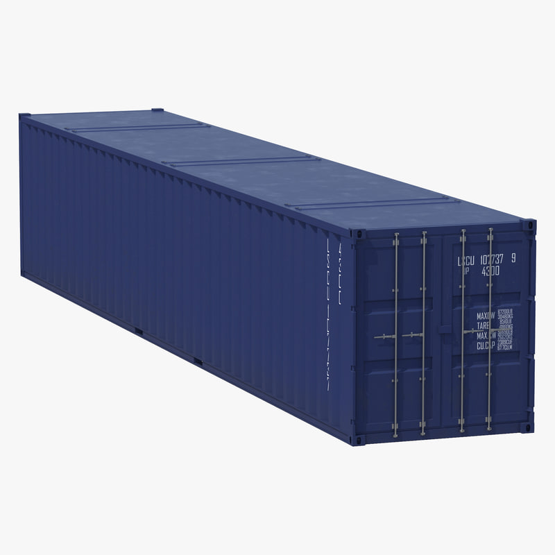 48 Ft Shipping Iso Container Obj